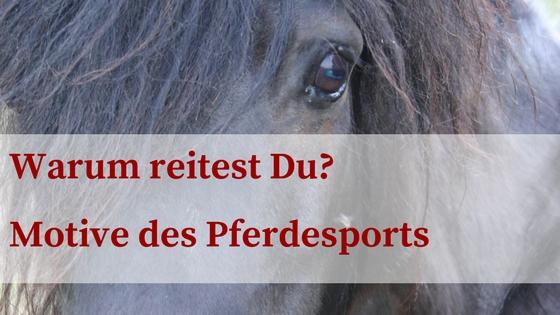 Motive des Pferdesports